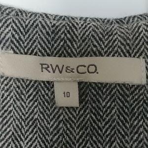 👗RW & CO. SLEAVELESS WOOL BLEND DRESS